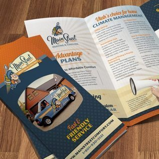 main street heating & cooling brochure