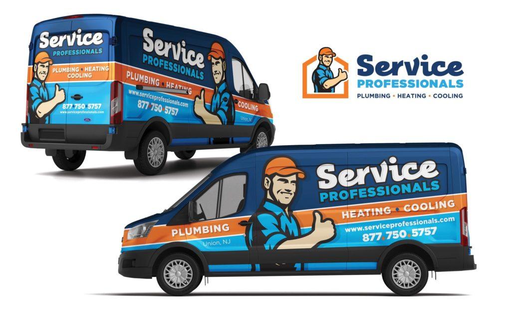 hvac truck wrap for Service Professionals