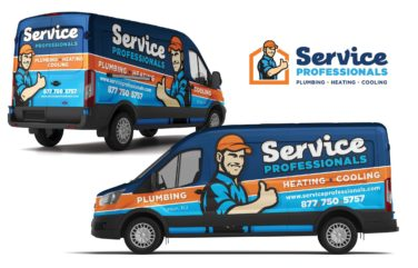 Truck wrap and fleet branding for a Union, NJ-based HVAC and plumbing company.