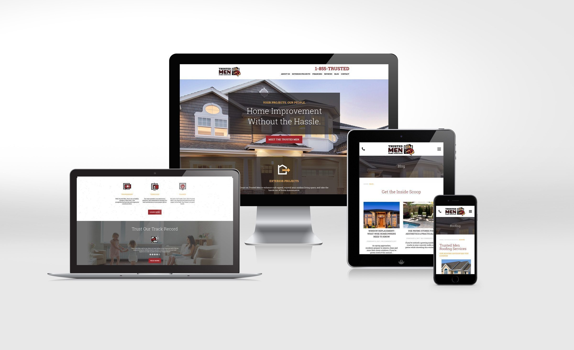 Website design for Trusted Men Home Services.