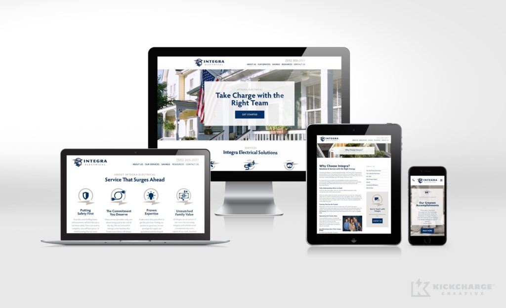 Integra Electrical Website Design
