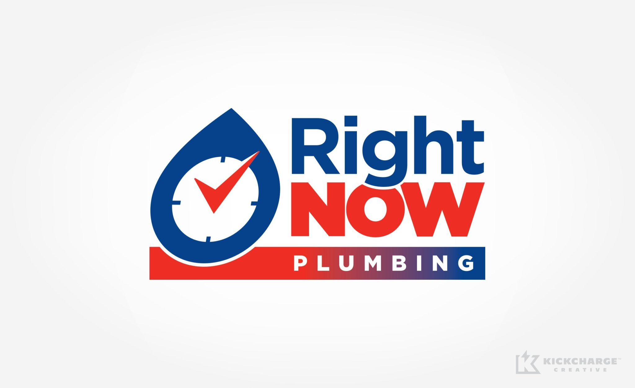 Logo design for Right Now Plumbing.