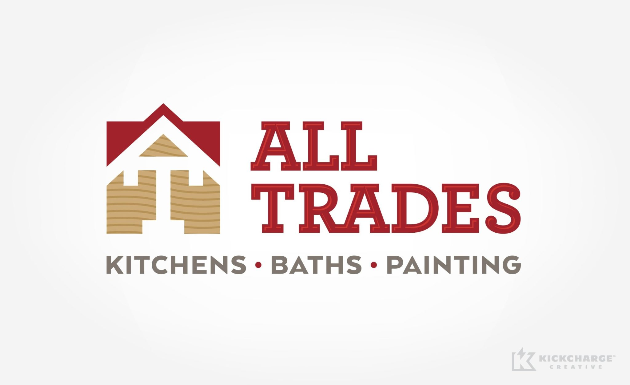 Logo design for a New Jersey kitchen, bath and painting contractor.