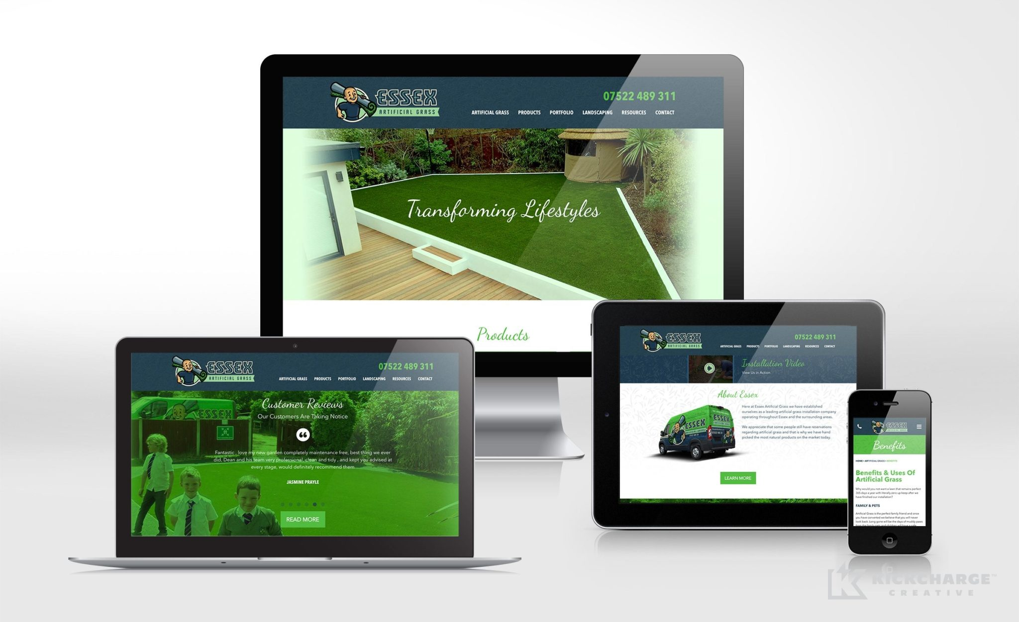 Website design for this UK-based contractor.