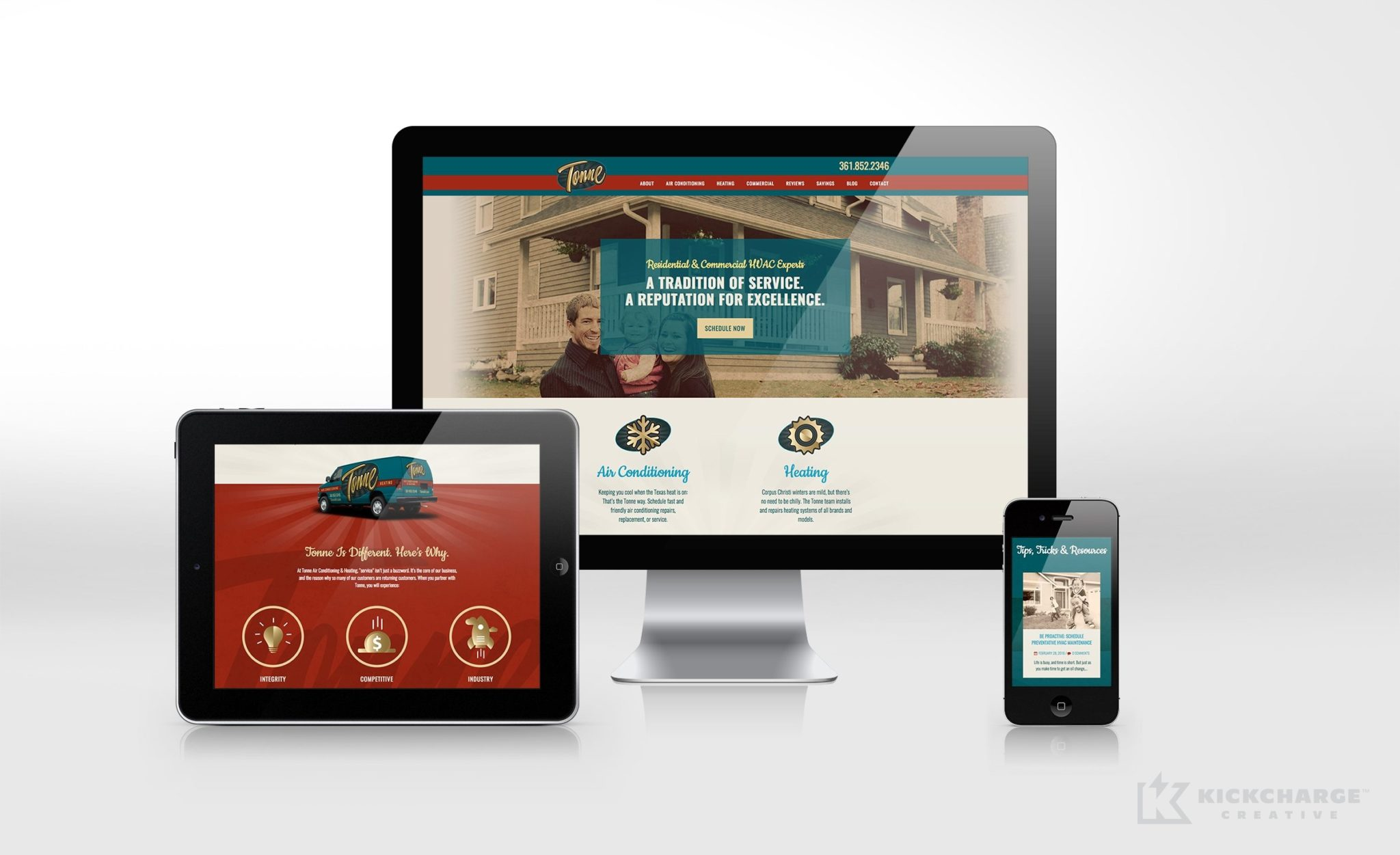 Website design for a HVAC contractor in Corpus Christi, TX.