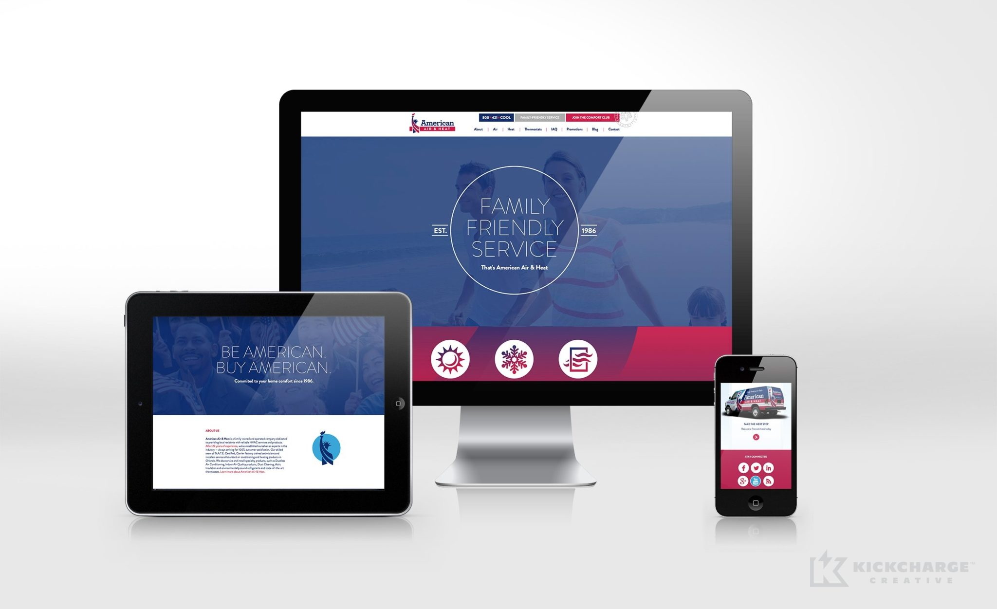 Website design for this Florida-based HVAC company.