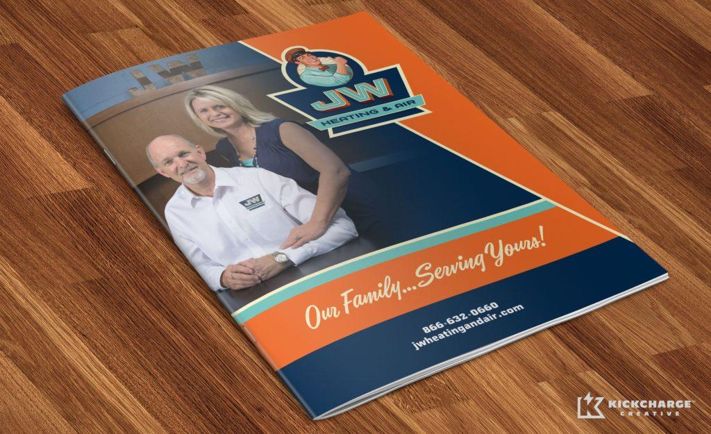 Brochure design for JW Heating & Air.