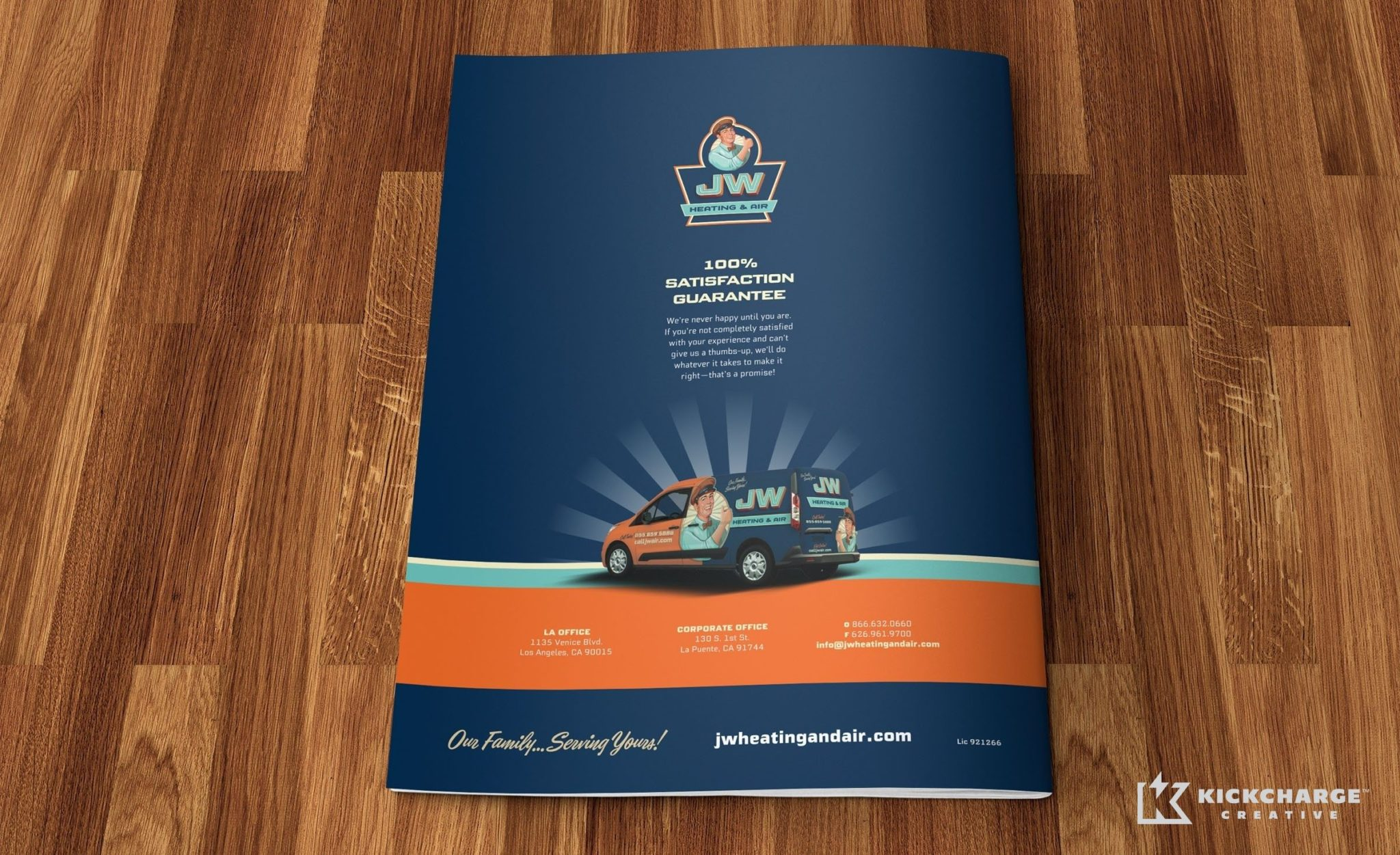 Brochure design for JW Heating & Air.