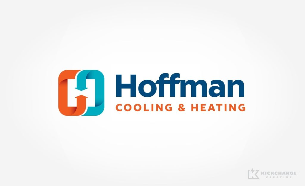 Logo design for Hoffman Cooling & Heating, an HVAC contractor in Minnesota.