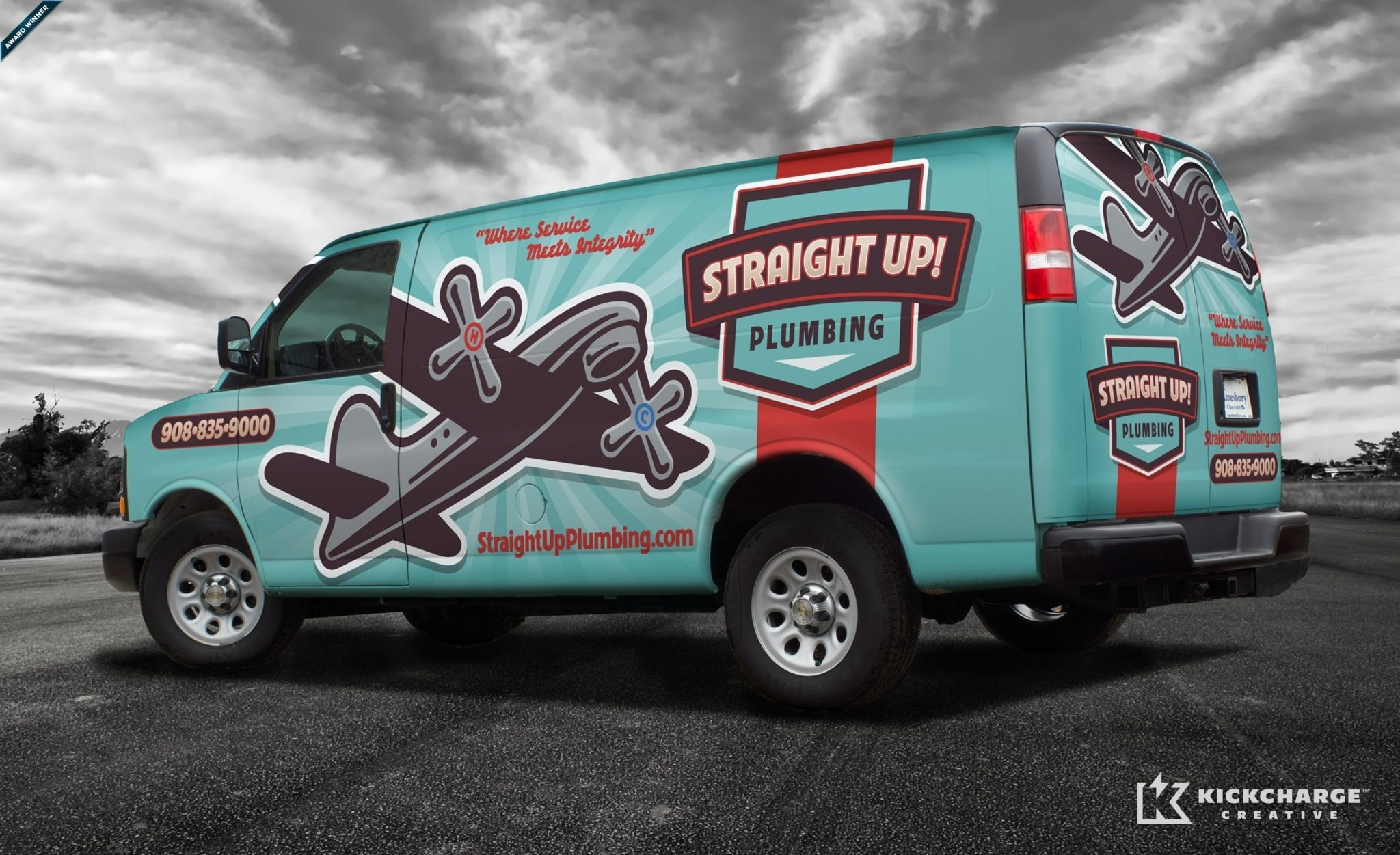 Truck wrap design for a plumbing company in Nevada. The best truck wraps use easy to view graphics, and a great logo to communicate a memorable brand.