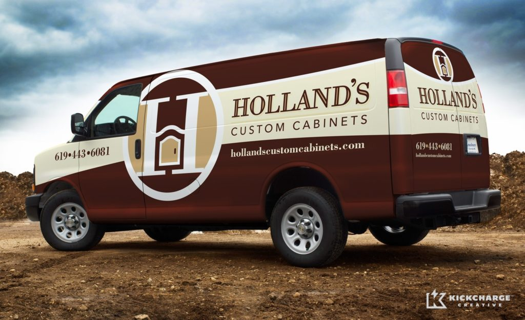 A great brand formed the foundatoin for this fleet branding project for a kitchen contractor in CA.