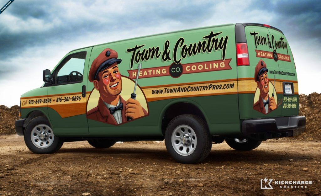 A great brand formed the foundation for this award-winning truck wrap for HVAC company in the midwest.