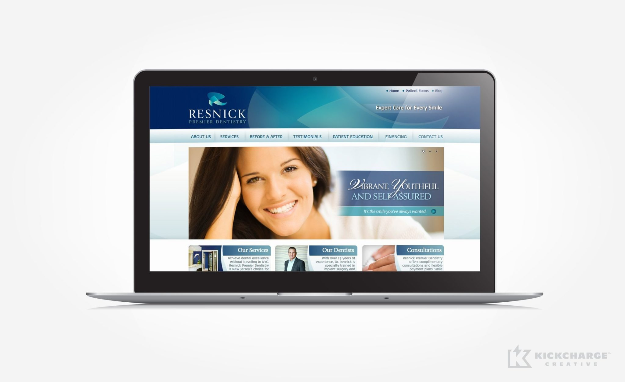 Web design for an upscale dental practice in Franklin Lakes, NJ.