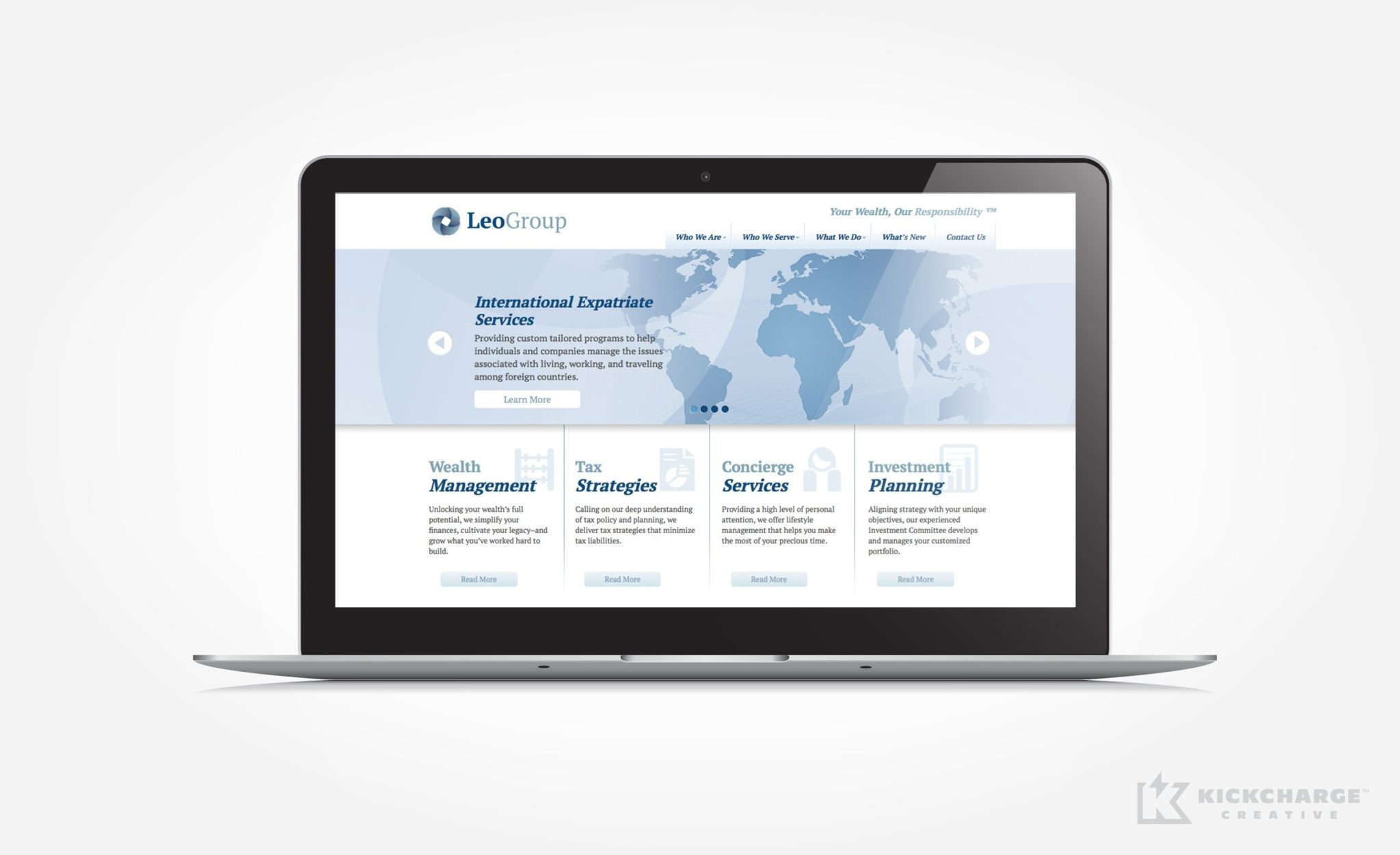 Web design for wealth management services located in Chatham, NJ.