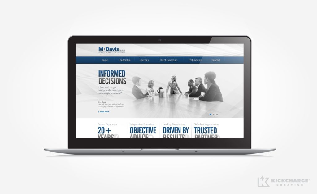 Web design for an insurance consultant in Mt. Arlington, NJ.