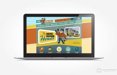Website design for ProMaster Home Repair.