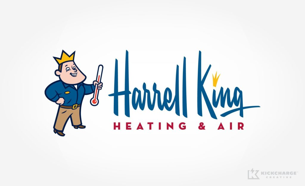 Logo design and brand development for an HVAC company located in Bainbridge, GA.