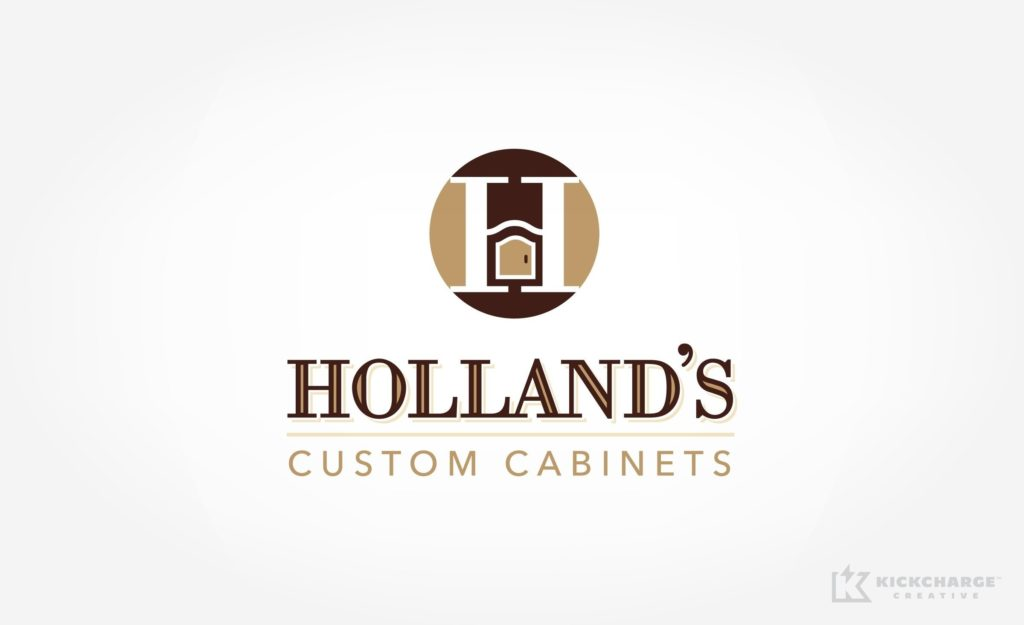 Logo design for a kitchen cabinet company in San Diego.