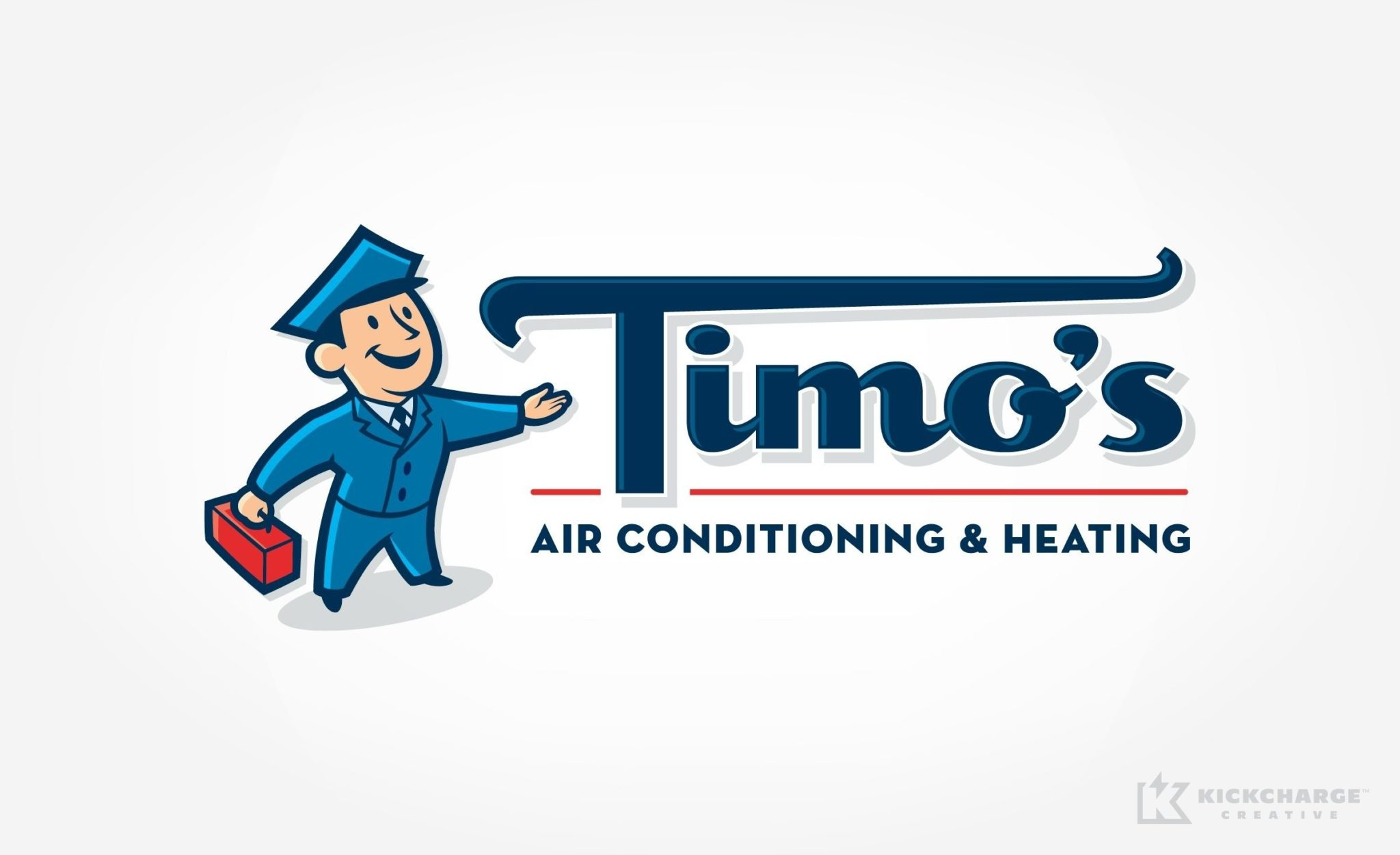 We designed this nostalgic retro logo design for an HVAC contractor in Palm Springs, CA.