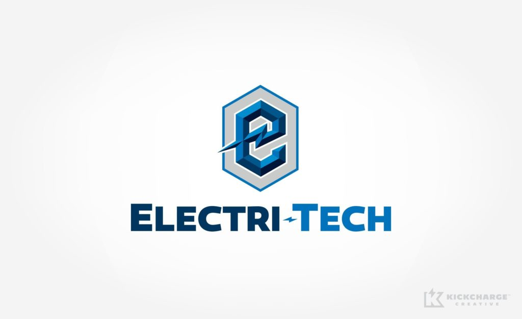 Logo design for Electri-Tech, an electrical contractor.