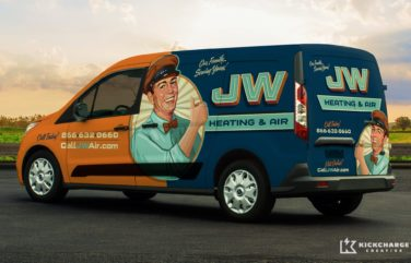 JW Heating & Air Vehicle Wrap
