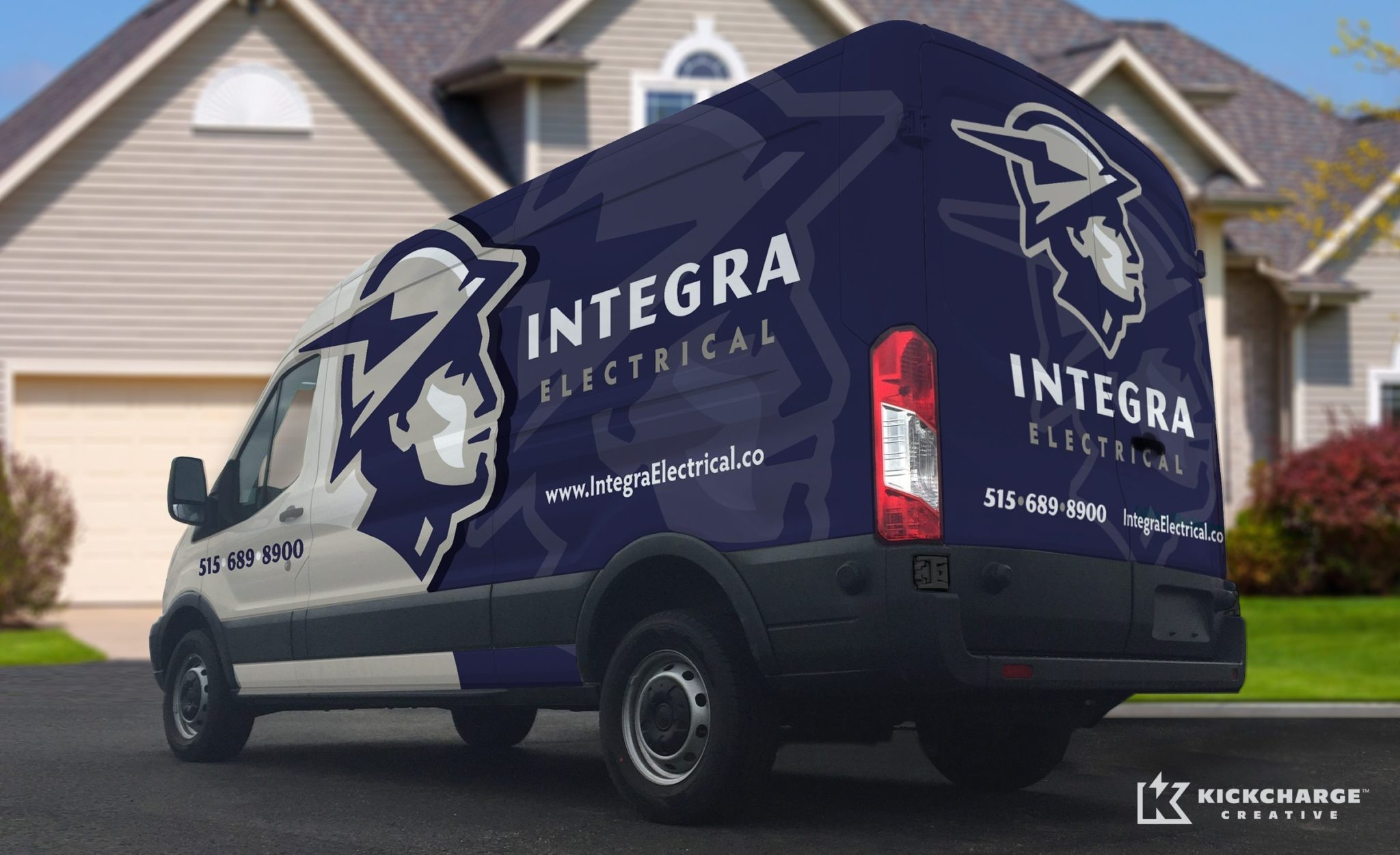 Integra Electrical Vehicle Wrap Design