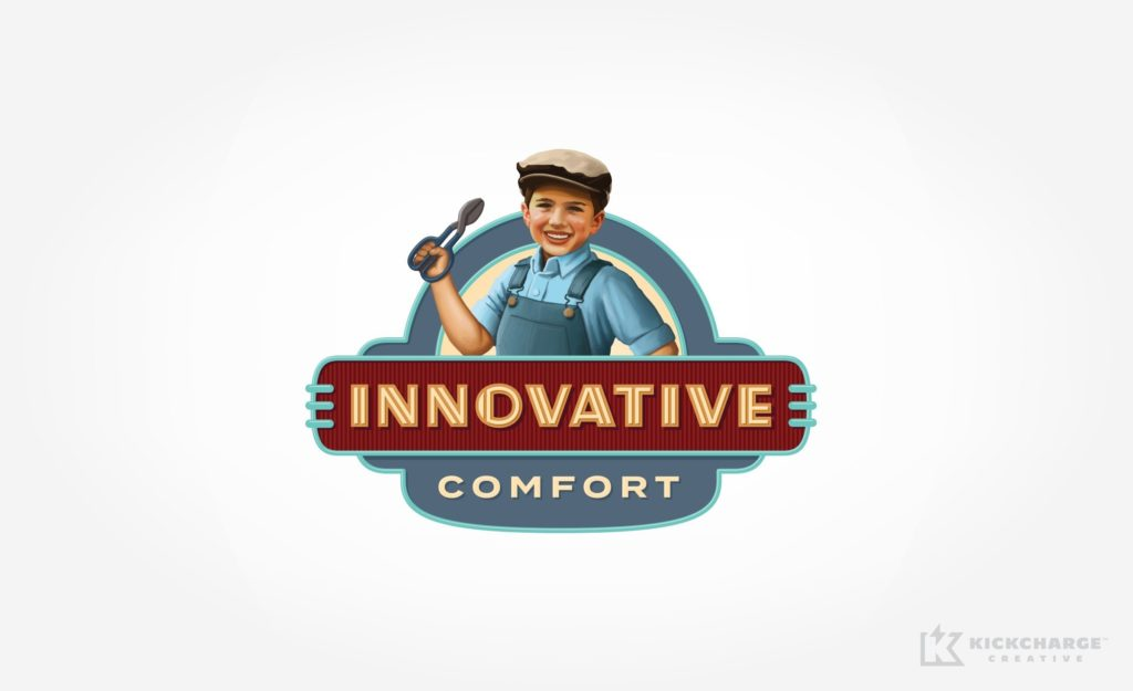 Logo design for Innovative Comfort, an HVAC company in Lynnwood, WA.
