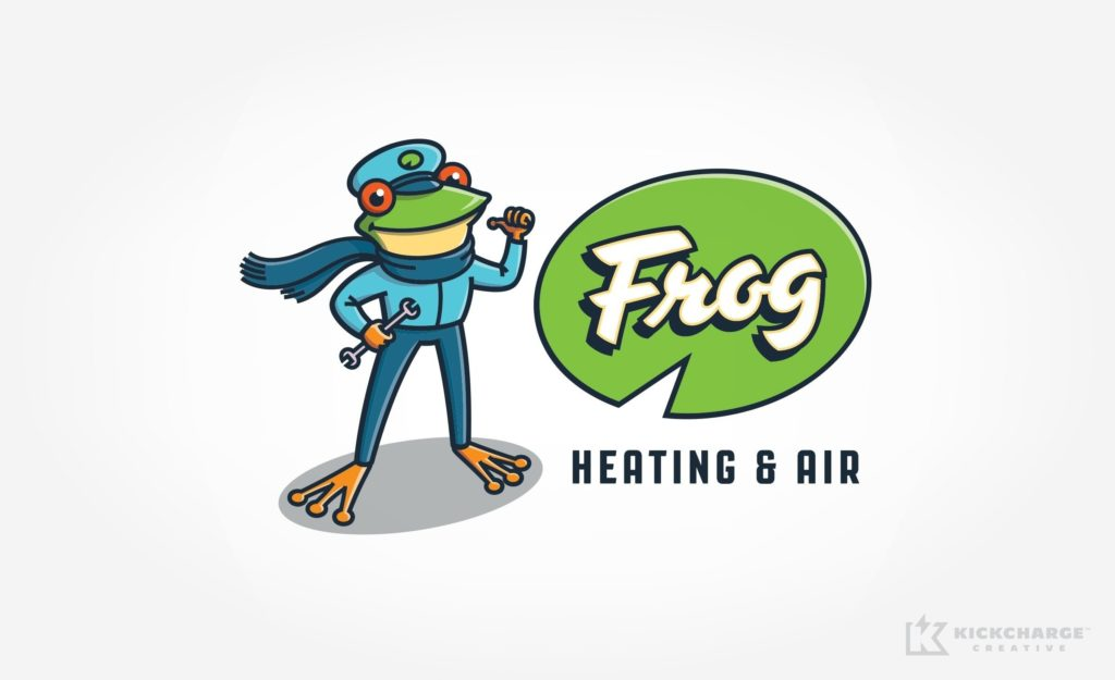 Frog Heating & Air, a Nashville-based HVAC company, is bringing comfort to your pad with this new logo design.