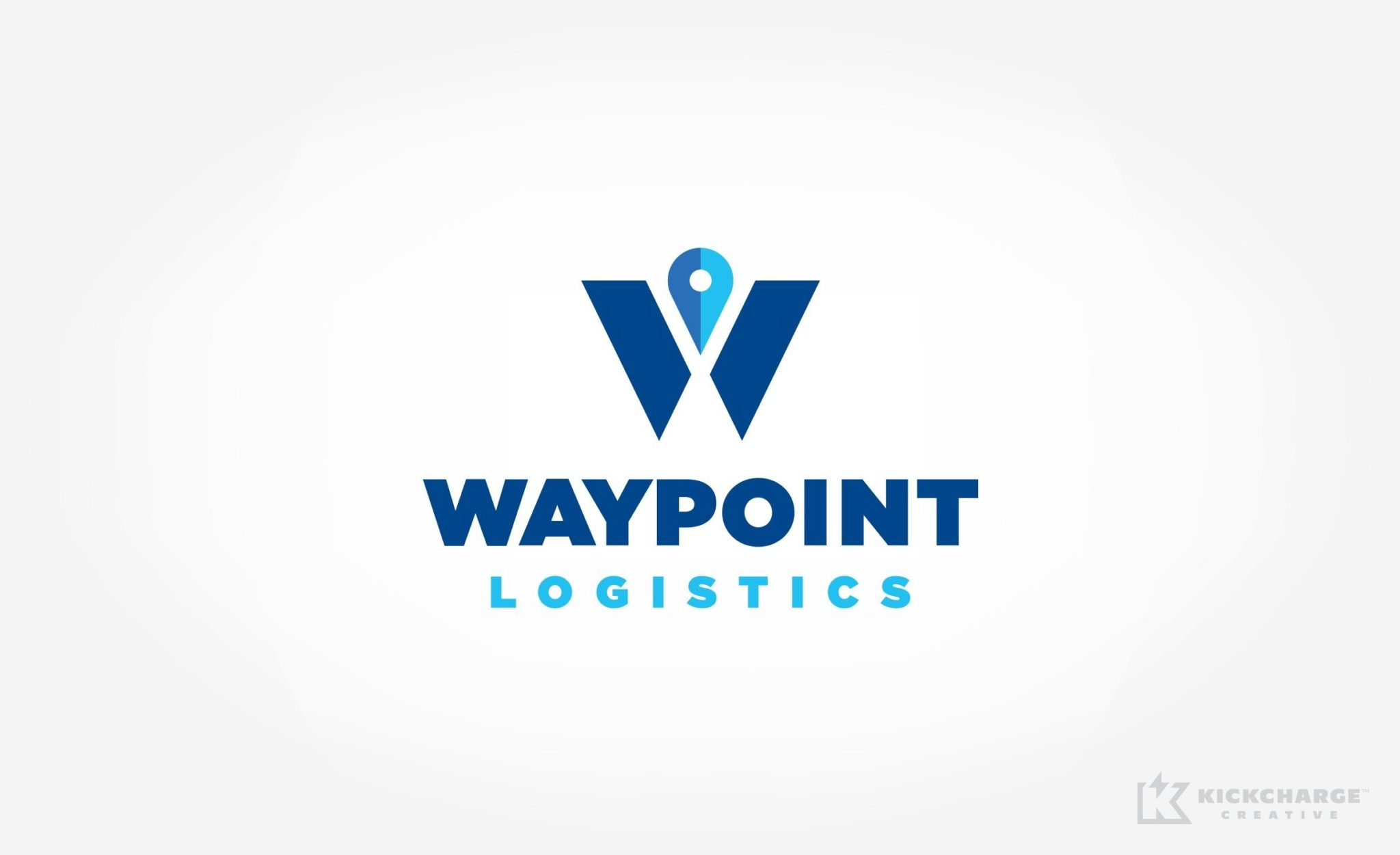 Logo design for Waypoint Logistics, a storage & distribution company located in Illinois.