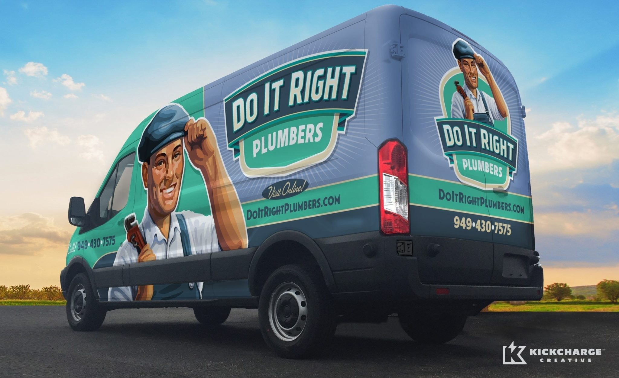 Do It Right Plumbers The Best Vehicle Wraps Use Simple Easy To Read Graphics As This
