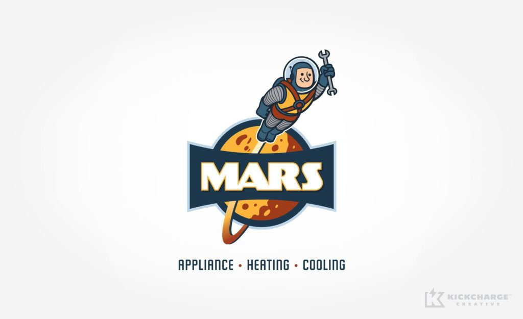 An out of this world logo design for an appliance repair and HVAC business in Tennessee.