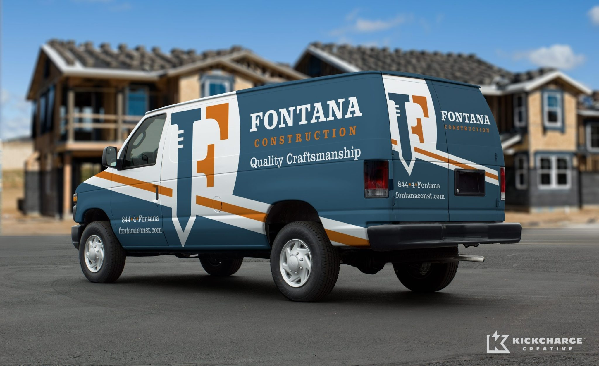 Fontana Construction vehicle wrap design for a full-service construction firm located in Staten Island, New York.