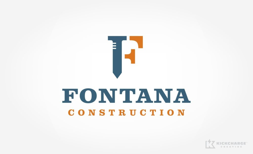 Fontana Construction logo design and branding for a full-service construction firm located in Staten Island, New York.