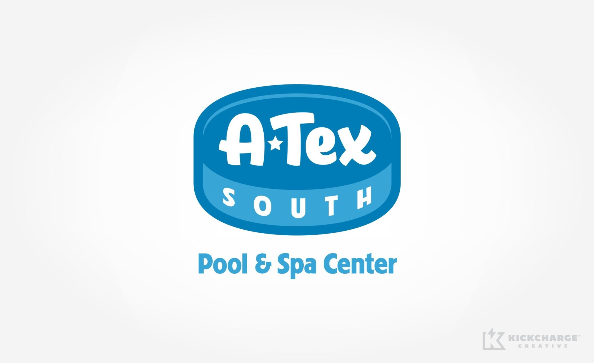 Logo for a pool and spa center.