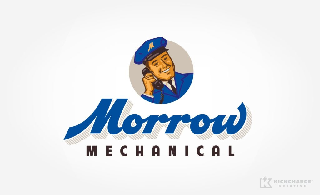 Logo design for Morrow Mechanical located in Spring, TX.