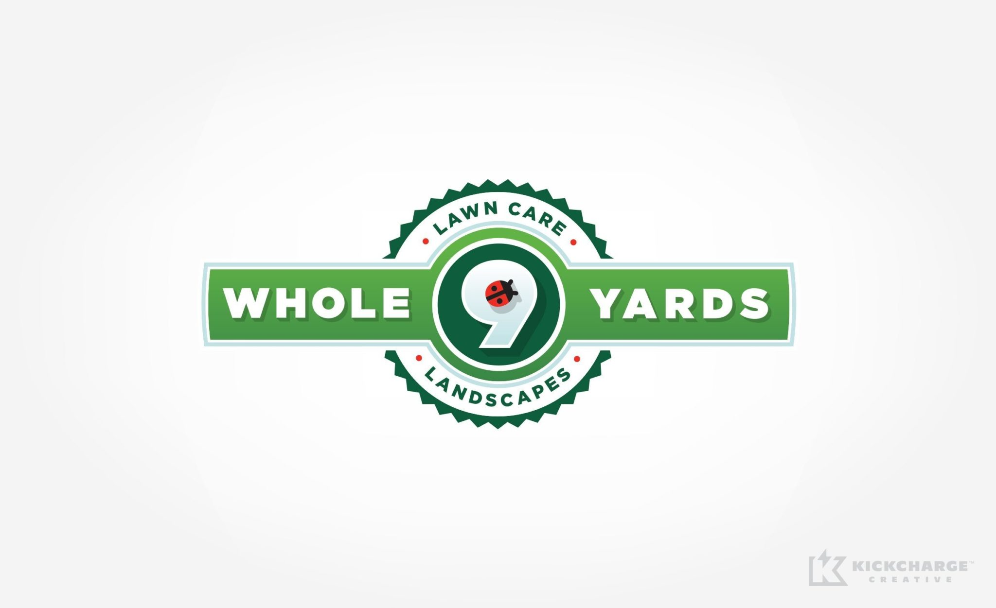 Logo design for Whole 9 Yards Lawn Care and Landscaping serving Flemington, New Jersey.