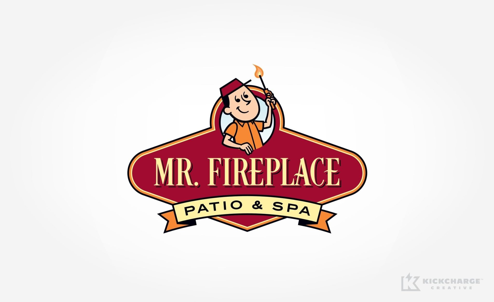 Logo design for Mr. Fireplace Patio & Spa.