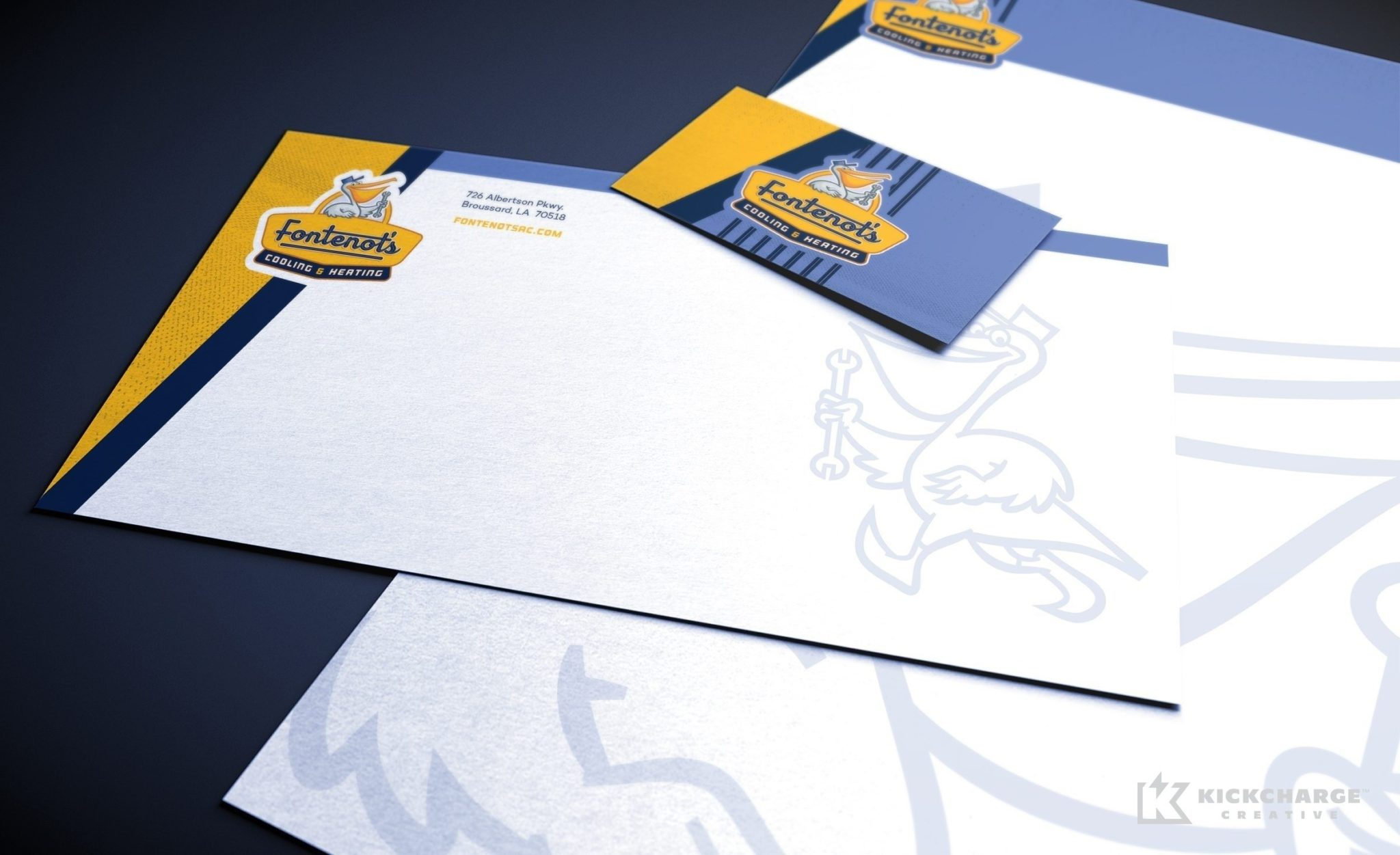 Stationery design for Fontenot's Air Conditioning & Heating located in Louisiana.