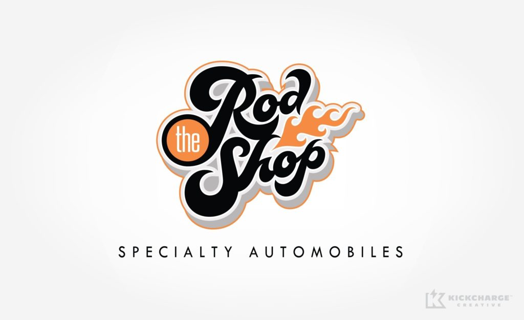 Logo design for the Rod Shop Specialty Automobiles.
