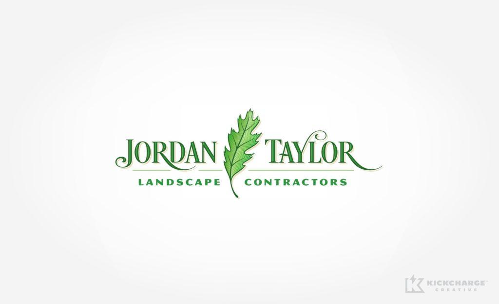Logo design for Jordan Taylor Landscape Contractors in NJ.
