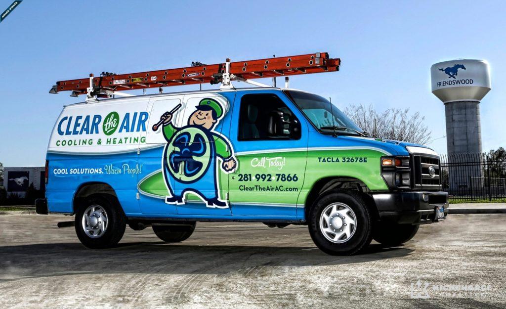 award winning truck wraps, best truck wraps, hvac truck wraps
