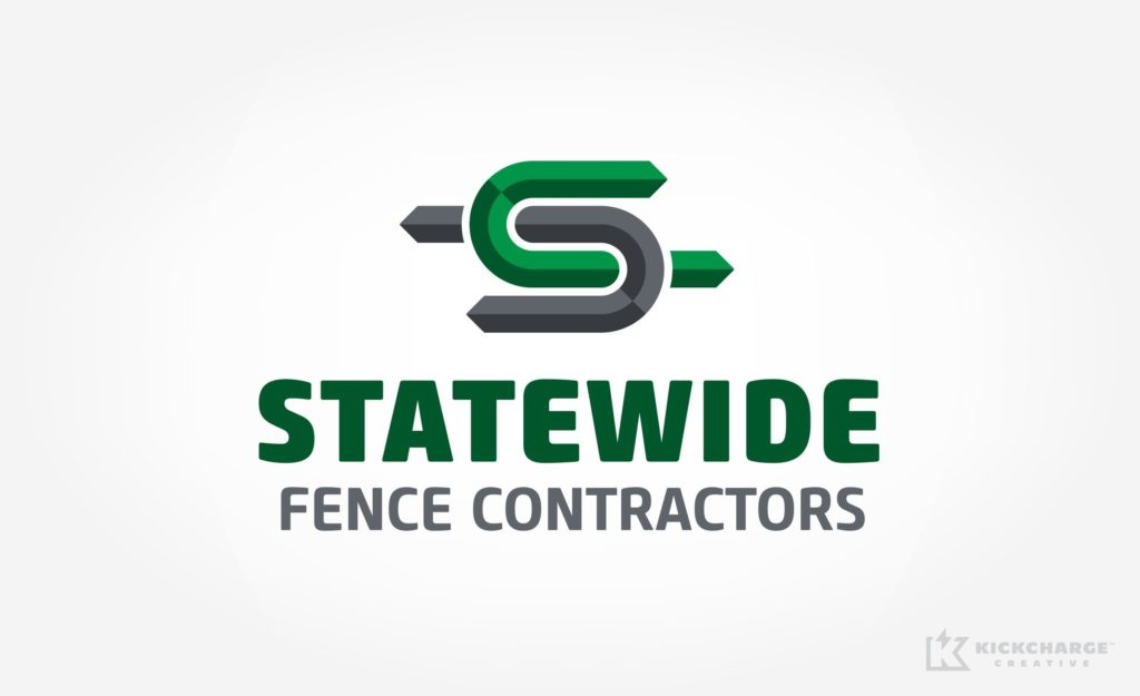 Logo design for Statewide Fence Contractors.