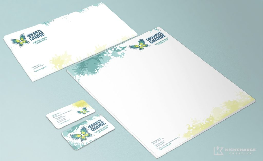 Stationery design for a non-profit organization located in Newark, NJ.