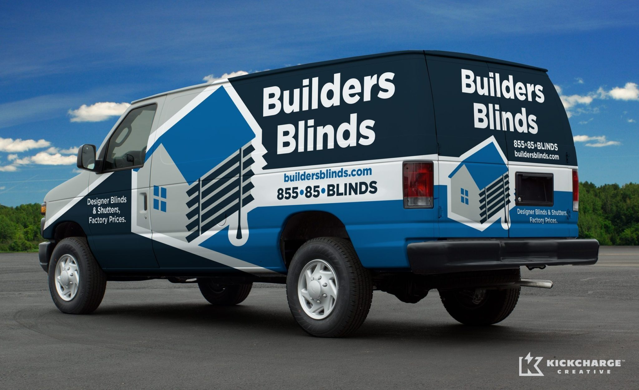 Vehicle design for Builders Blinds.