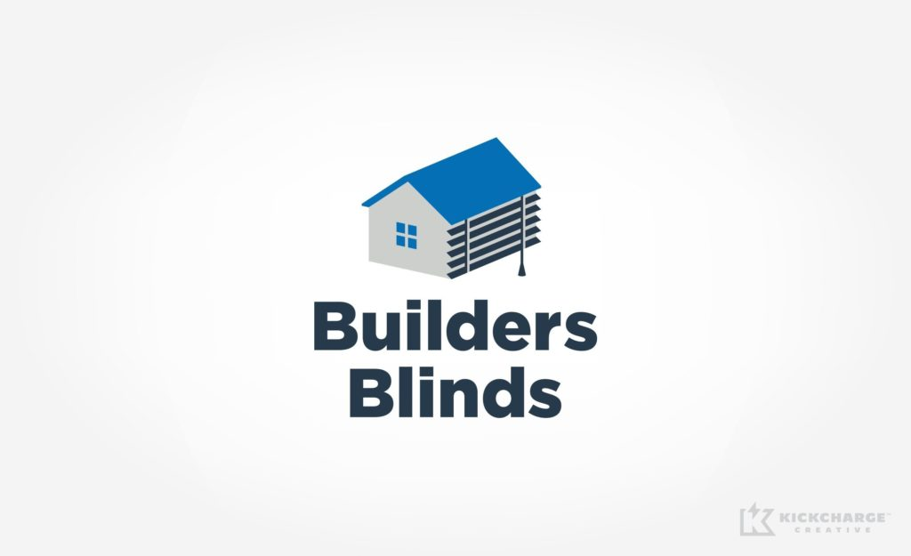 Logo design for Builders Blinds, commercial contractor in Florida.
