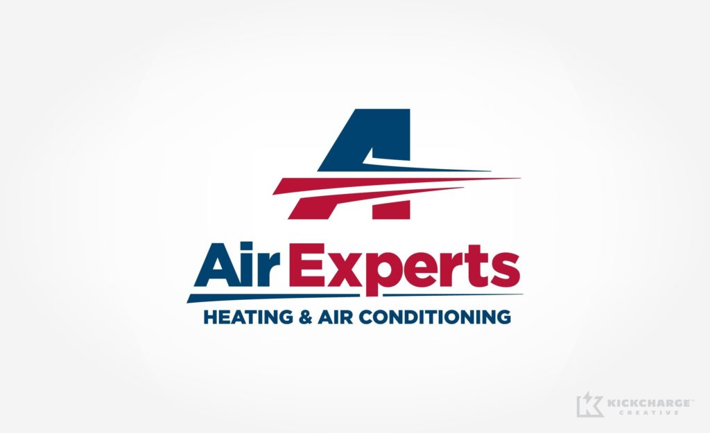 HVAC brand identity and logo design for Air Experts in San Antonio, TX.