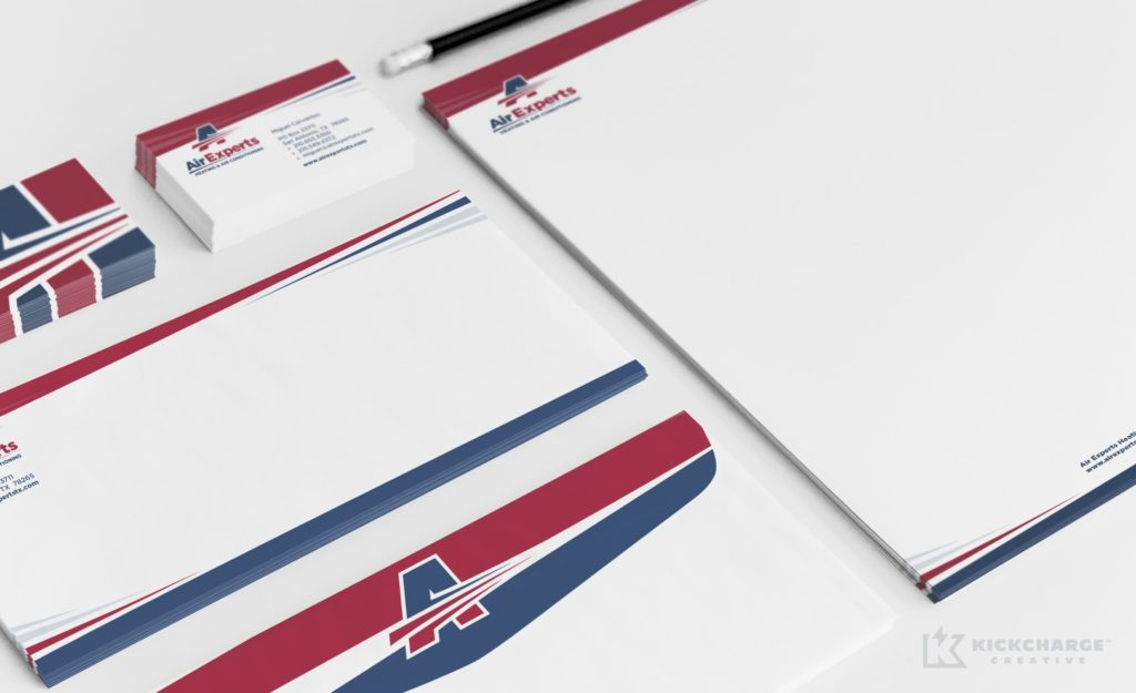 HVAC stationery design for Air Experts in San Antonio, TX.