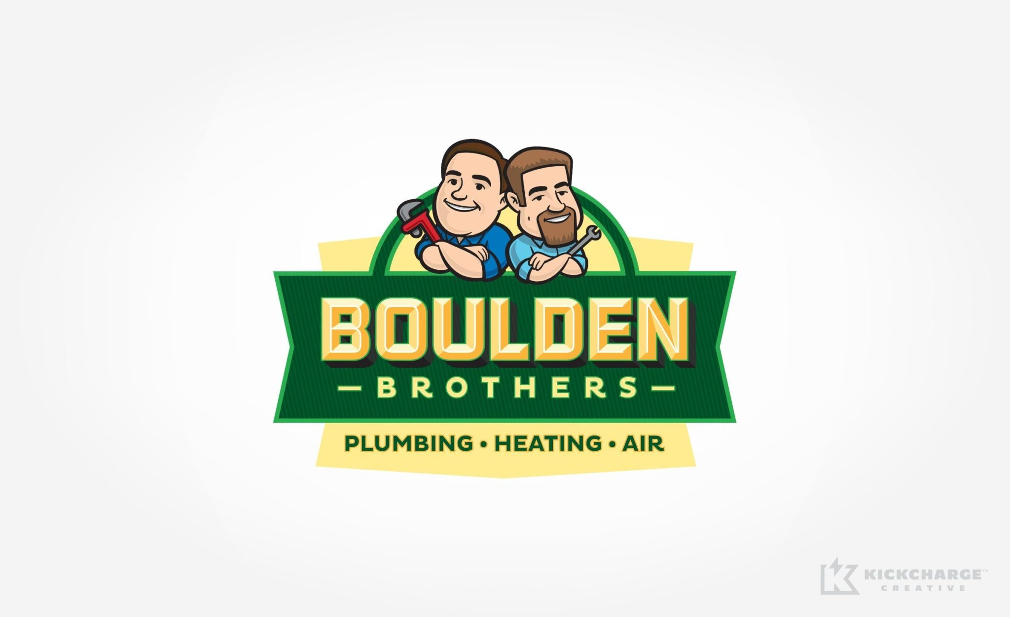 Logo design for Boulden Brothers Plumbing, Heating & Air.