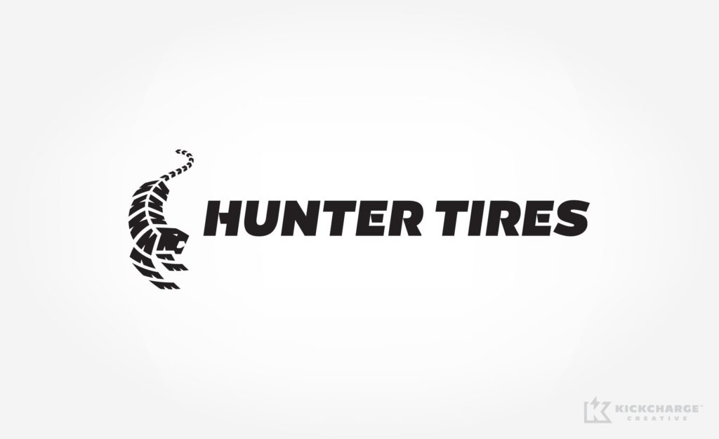 Logo for a tire company in California.