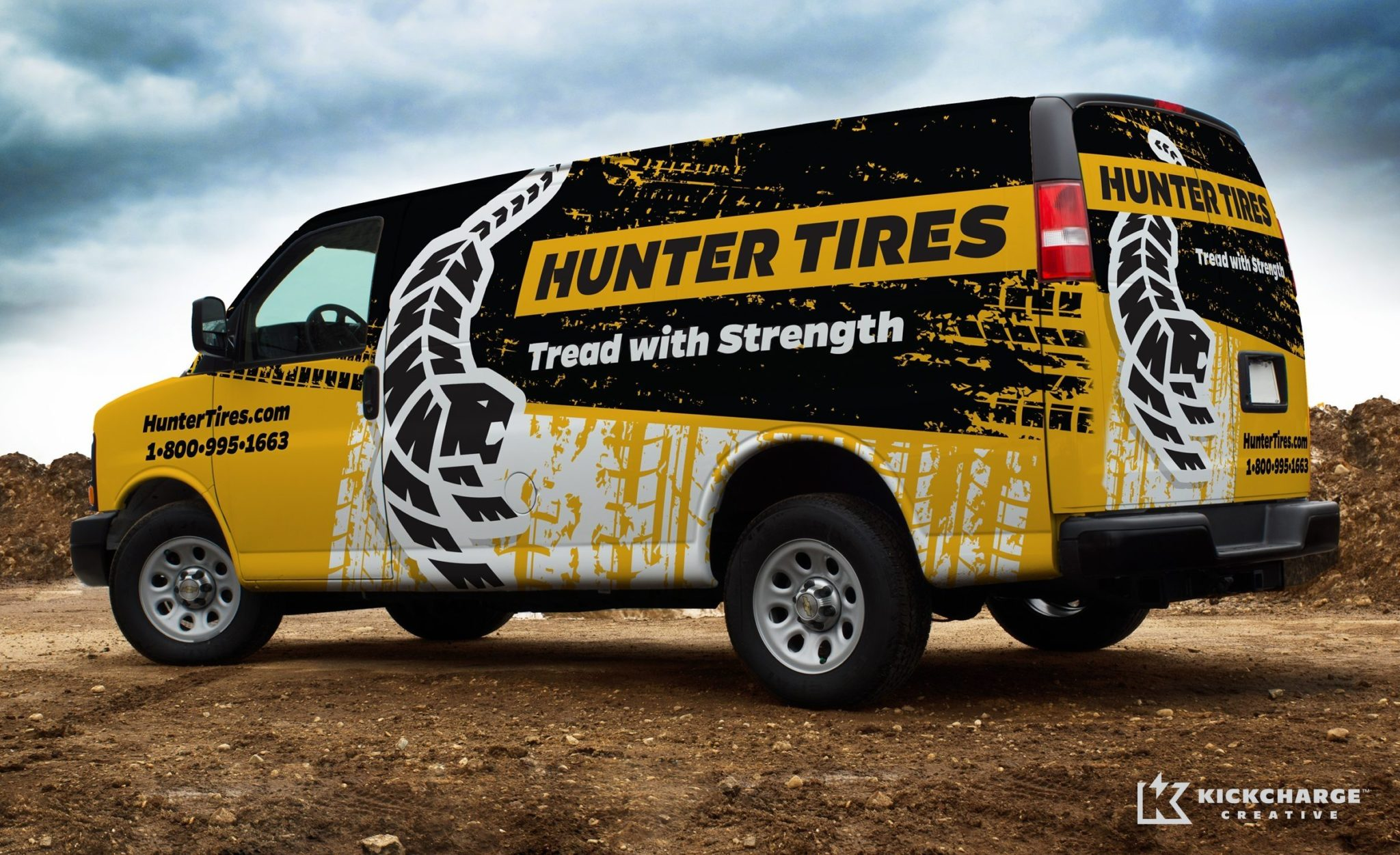 Vehicle design for a tire company in California.